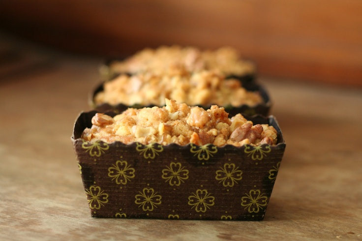 Walnut Streusel Mini Cakes
