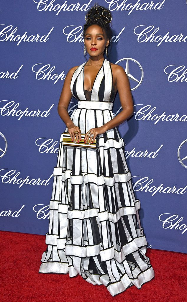 The Hidden Figuresactress looked bold and beautiful on the red carpet in a black and white graphic print gown.