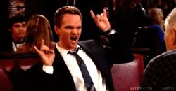 Neil Patrick Harris throwing up his bull horns. #USF