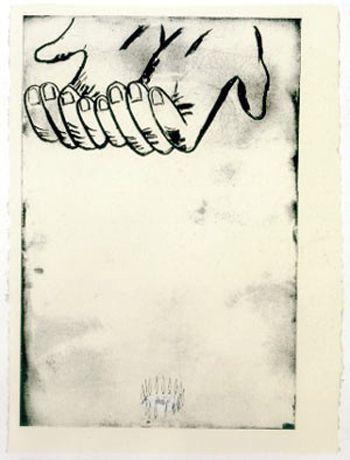 "Enzo Cucchi  ""La Mana - II""  Etching  1991"