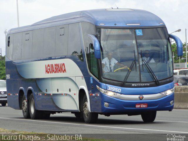 Ônibus da empresa Viação Águia Branca, carro 31950, carroceria Marcopolo Paradiso G7 1200, chassi Mercedes-Benz O-500RSD. Foto na cidade de Salvador-BA por Ícaro Chagas :: Salvador-BA, publicada em 10/09/2016 16:26:53.