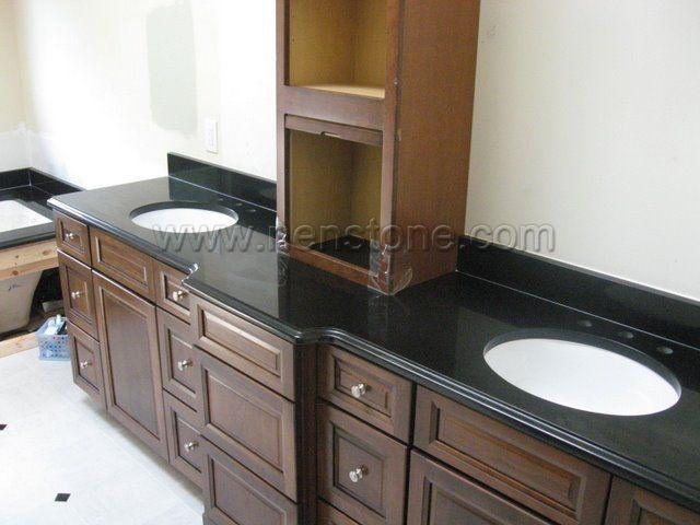 Gallery Website China Absolute Black Granite is one of the most popular granite for bathroom vanity tops We supply both the prefab granite vanity tops and custom bathroom