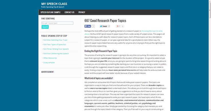 667 Good Research Paper Topics