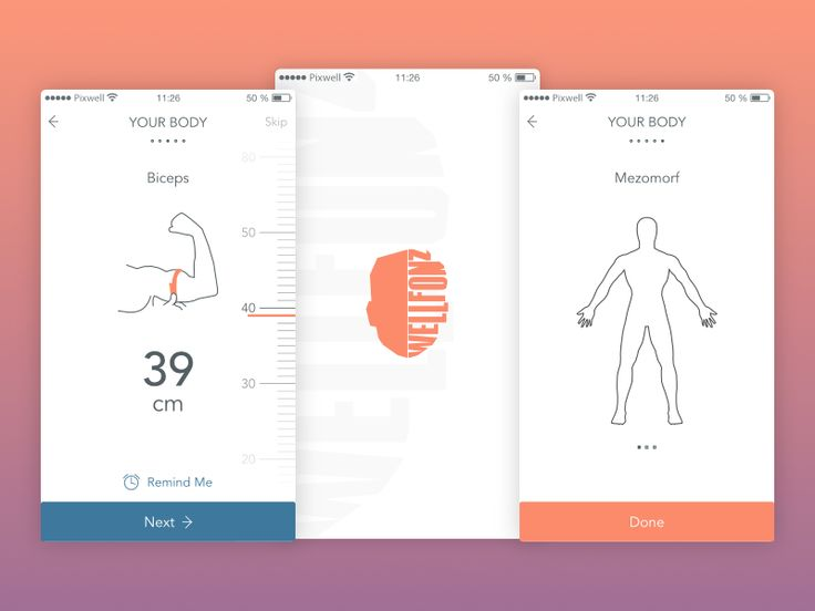 Mobile app for Slovakian startup. Medical/health app created with delicious design background & Apple Health integration.