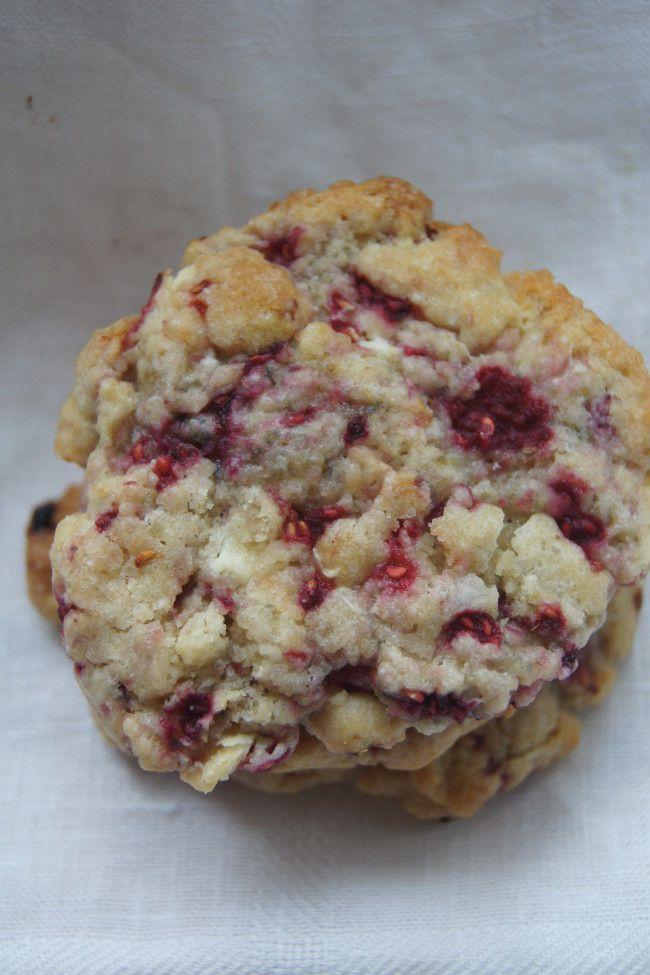 cookies chocolat blanc et framboises