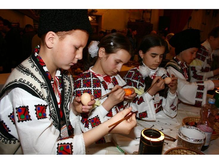 National Festival of Easter hand made eggs at Ciocanesti, Romania