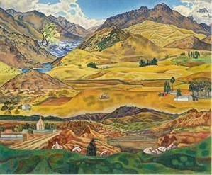 Central Otago Painting by Rita Angus   Prints.co.nz