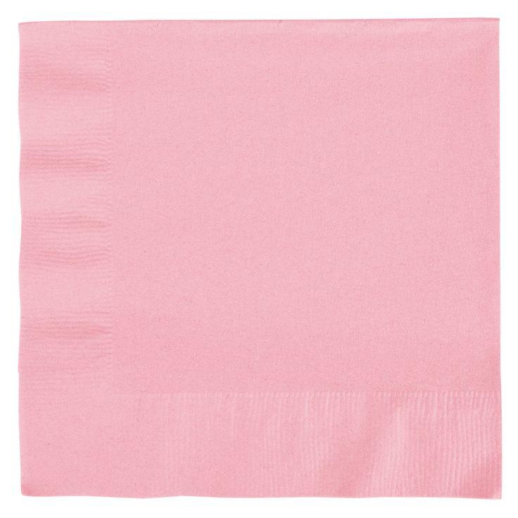 Lyserød servietter. Flotte lyserøde middagservietter til din fest i god kvalitet.