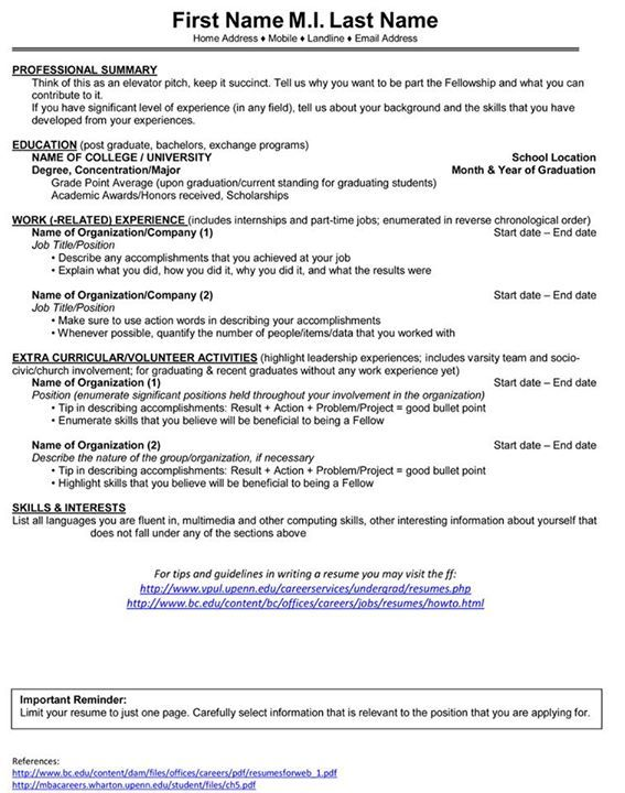 179 best For Thoughts images on Pinterest Learning, Fun facts - 2 types of resumes