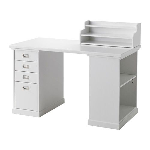 ikea klimpen desk with storage white the add on unit can be placed on the table top or. Black Bedroom Furniture Sets. Home Design Ideas