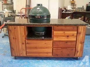 build charcoal grill cabinet | BIG GREEN EGG PATIO KITCHEN for Sale in Plano, Texas Classifieds ...