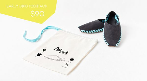 EARLY BIRD PIKKPACK SHOES DIY KIT on Kickstarter  @Pikkpack Shoes by YOU