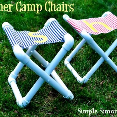 Summer Camp Chairs {Family Crafts} - Will make these for sure.: Idea, For Kids, Pvc Pipes, Camp Chairs, Folding Chairs, Camps Chairs, Pvc Chairs, Diy Projects, Summer Camps
