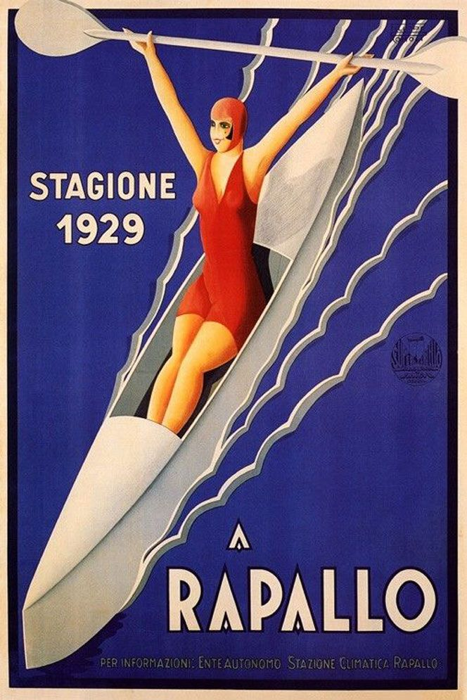 Filippo Romoli, Rapallo, Italy, vintage Poster