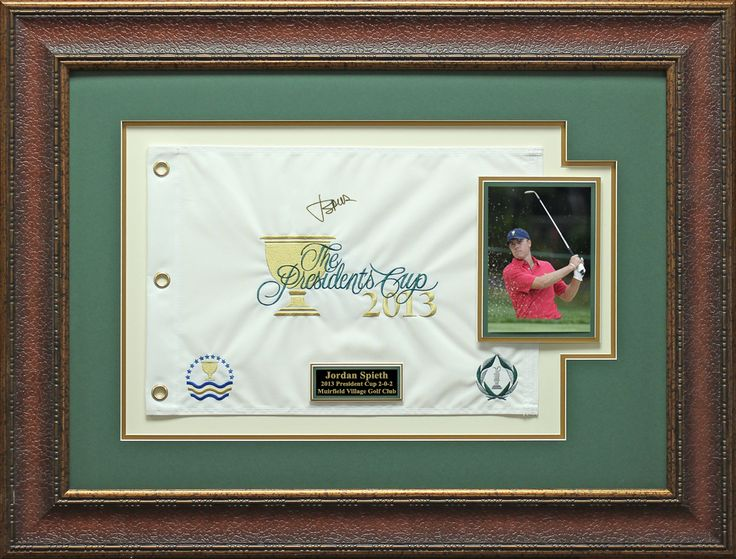 Signature Royale - Jordan Spieth Signed 2013 President Cup Flag Display., $395.00 (http://www.signatureroyale.com/jordan-spieth-signed-2013-president-cup-flag-display/)
