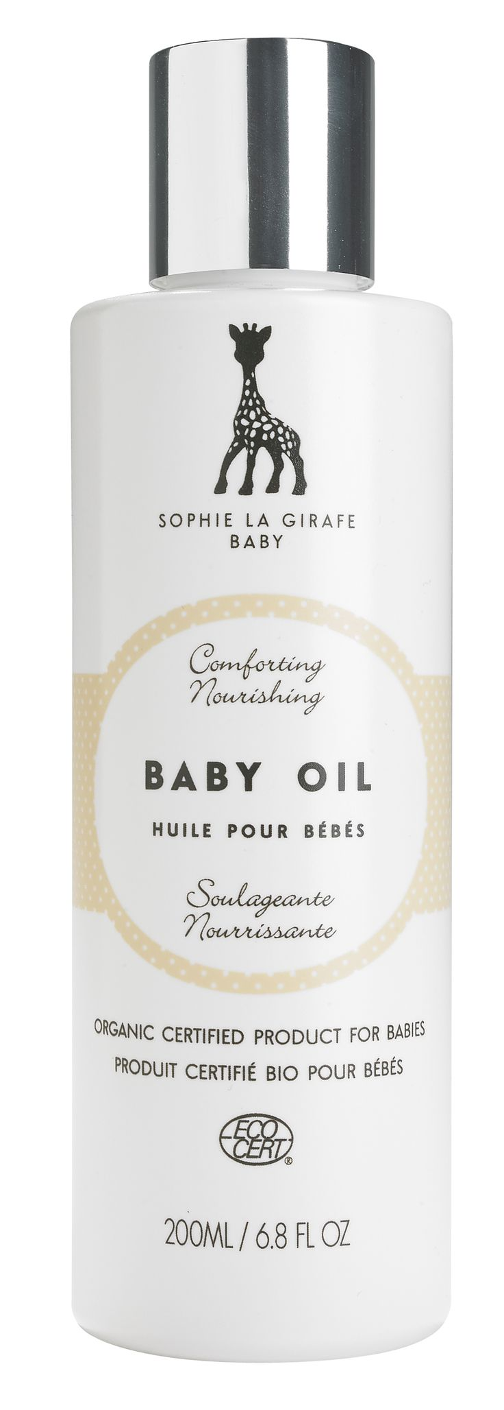 Multi-usage awarded baby oil.   Gentle, Ecocert-certified formula.   Use in baby bath, moisturizing, massaging. As eye makeup remover. For shaving... You name it!   Ideal also as healing scalp treatment: massage well, leave for night, and rinse with Sophie la girafe Baby Hair & Body Wash. Continue washing with same shampoo to maintain results and get rid of ie. dandruff with no nasties.
