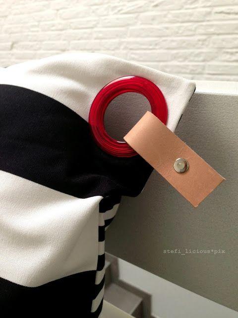 pillowcase b/w stripes with piercing (2) - schumann 6