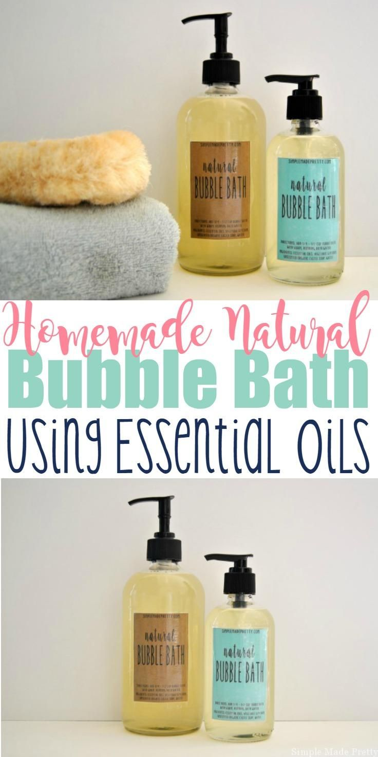 This Homemade All-Natural Bubble Bath Using Essential Oils will change the way you look at using toxic, chemical-filled bubble bath. This DIY all-natural skin care solution is made with essential oils and natural ingredients. If you like making handmade gifts or use essential oils (or are thinking about using them) keep reading for how to make an easy all-natural bubble bath to give to loved ones and use in your home. Download the labels below to create an easy handmade gift for the ladies…