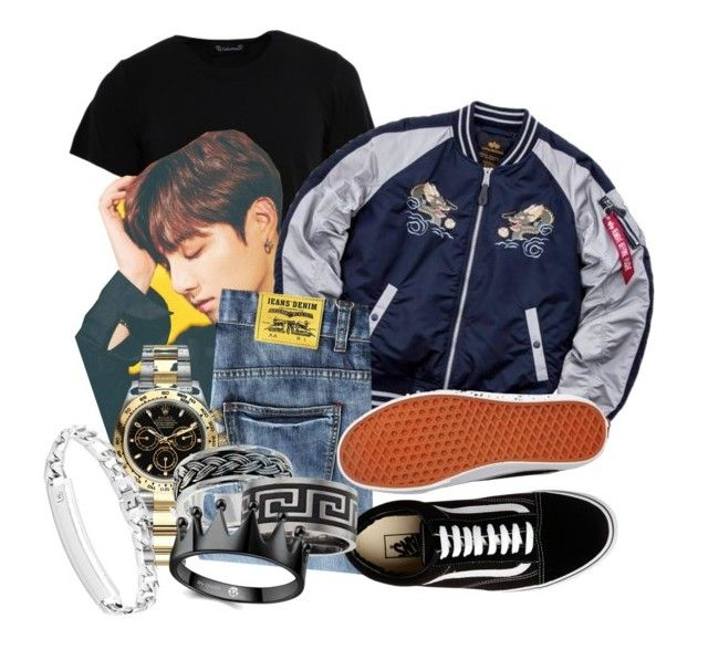 Untitled #1065 by elliepetkova on Polyvore featuring polyvore Numero00 Alpha Industries Vans Rolex Saks Fifth Avenue Bling Jewelry men's fashion menswear clothing