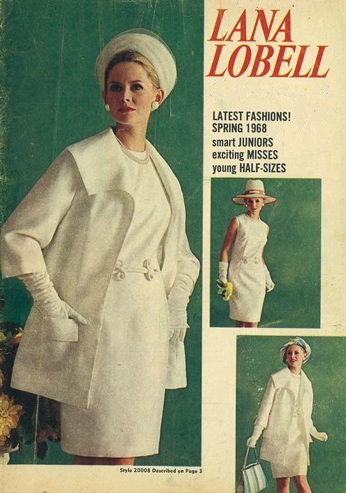 """Lana Lobell"" catalog, Spring 1968 white shift sheath ..."