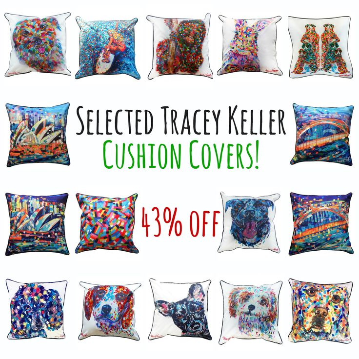 Tracey Keller animal cushion covers now on sale!!!