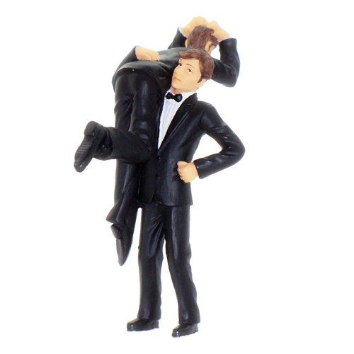 Gay wedding cake toppers, got his groom!                                                                                                                                                                                 More