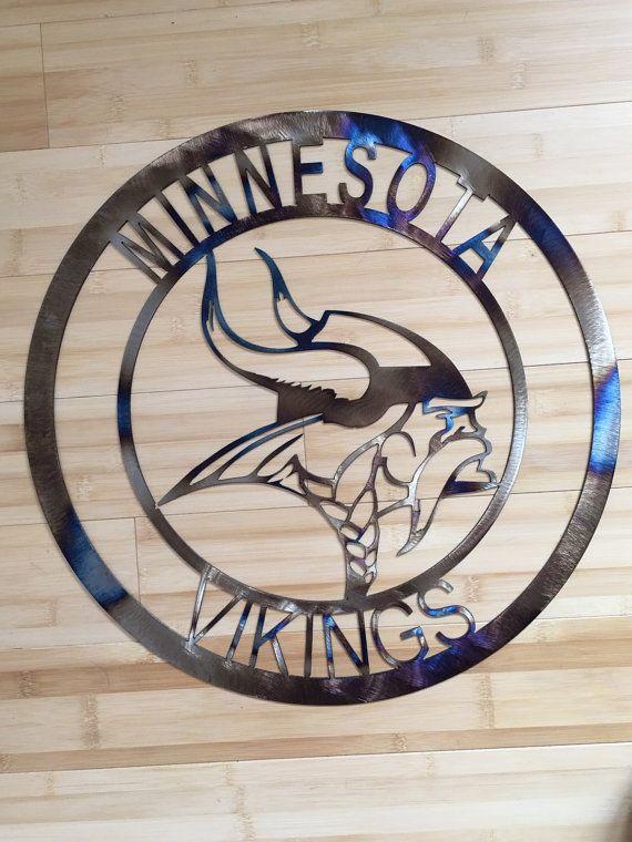 Minnesota Vikings wall art, man cave hanging, football, team spirit