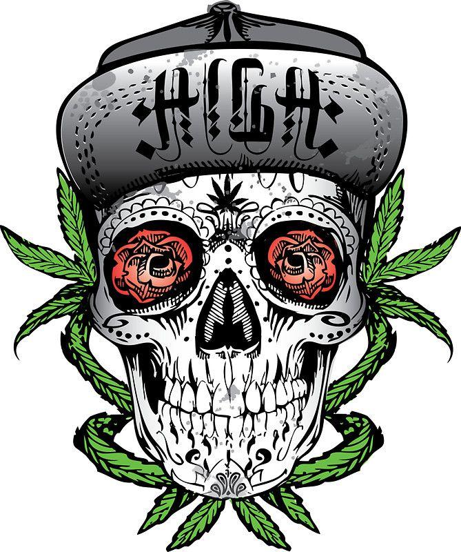 Weed Sugar skull