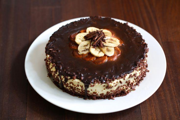Pudingová torta s banánom