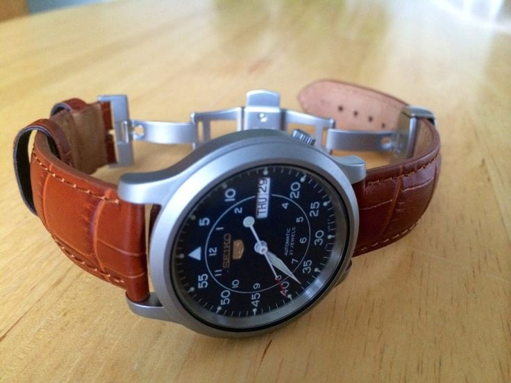Seiko SNK809 leather strap