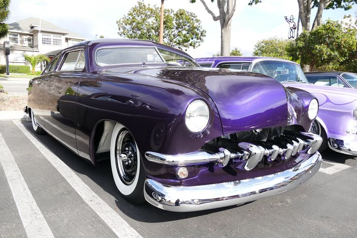 Kustom Ford Shoebox in purple and white with wide white ...  Kustom Ford Sho...