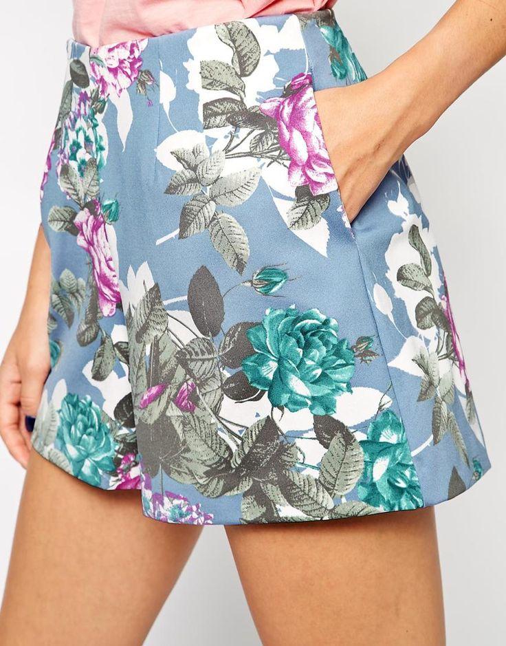 Immagine 3 di ASOS - Pantaloncini a fiori