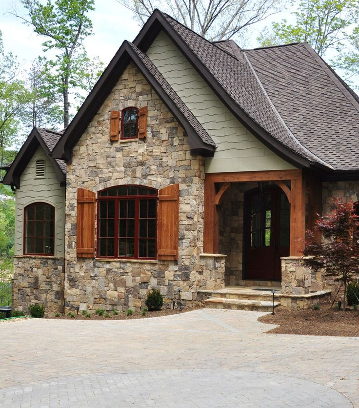 Stacked Stone Home Exterior: Details. Custom Homes - Exteriors