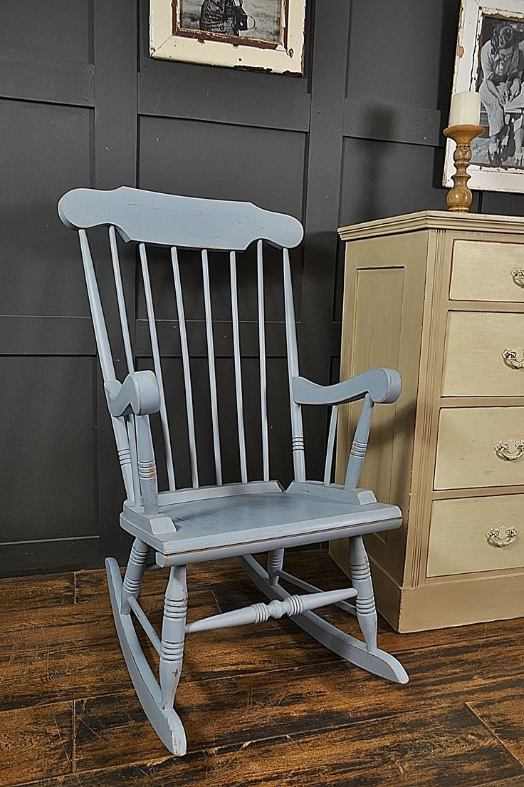 Chair shabby chic painted rocking chairs - Why Not While Away The Hours With A Good Book On Our Pine Rocking Chair Blue Shabby Chicdark Waxrocking Chairsrefurbished