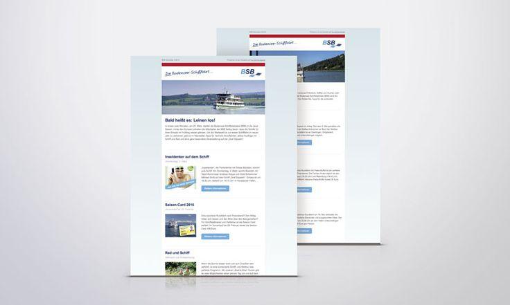 Optimiert: E-Mail Newsletter der Bodensee-Schiffsbetriebe Die Bodensee-Schiffsbetriebe sind mit mehr als zwei Millionen Passagieren im Jahr ein Wirtschaftsfaktor auf dem #Bodensee. Der E-Mail Newsletter ist hierbei ein wichtiges Informationsmedium – relaunched von fsb/welfenburg.