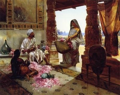 The Flower Maidens - Rudolf Ernst