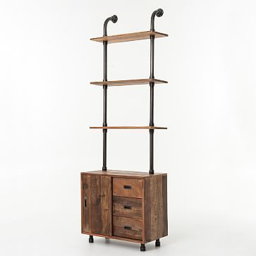 wall storage units for office small bedrooms reclaimed pine unit west elm ikea