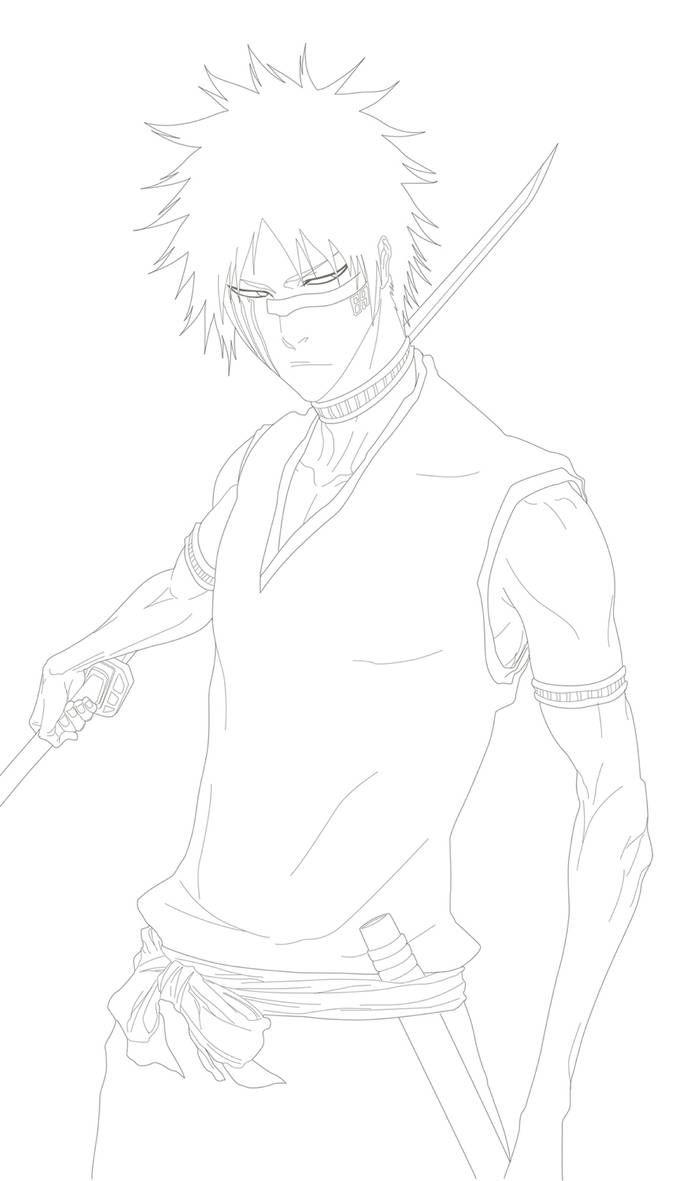 Hisagi Shuhei Line Art By Benderzz On Deviantart Bleach Art Anime Character Drawing Anime Art Tutorial [ 1181 x 677 Pixel ]