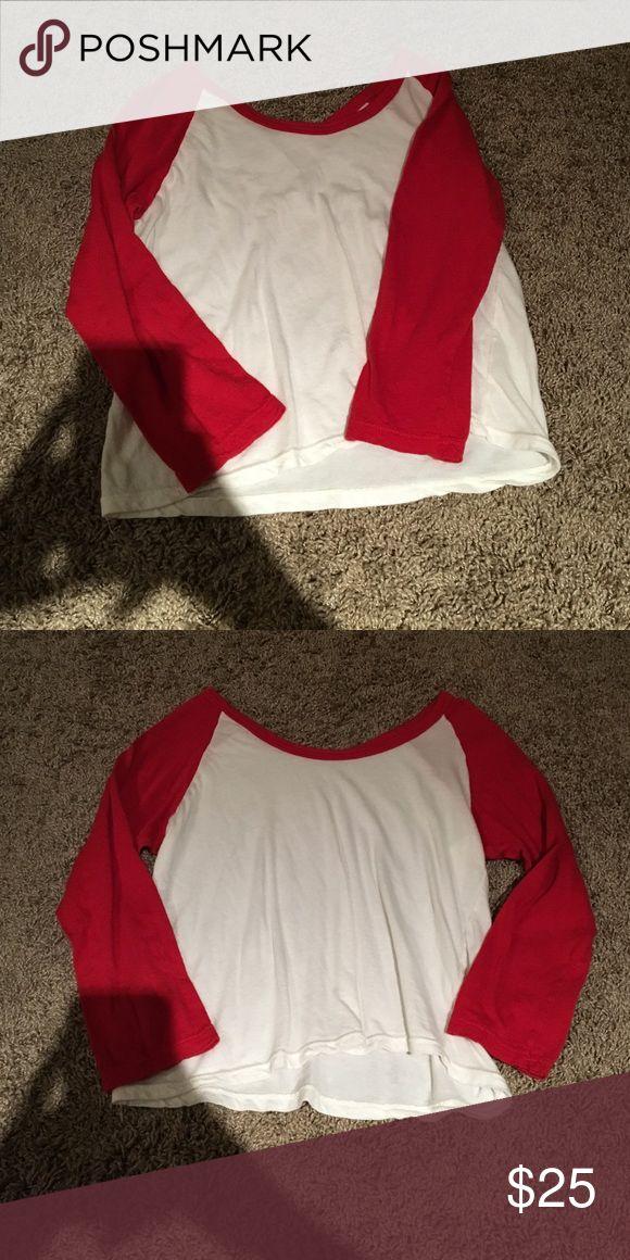 Baseball tee from Brandy Melville Love this shirt! Brandy Melville Tops