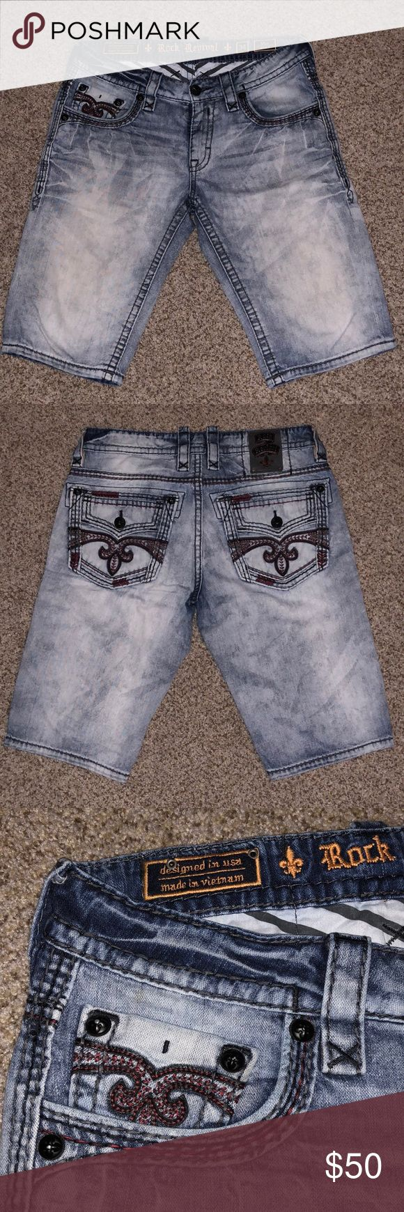 Rock Revival shorts Rock Revival shorts excellent used condition, missing one button on right side pocket. Smoke free pet free home. If you have any questions or are interested in making an offer please leave a comment. ❌NO TRADES❌ Rock Revival Shorts Jean Shorts