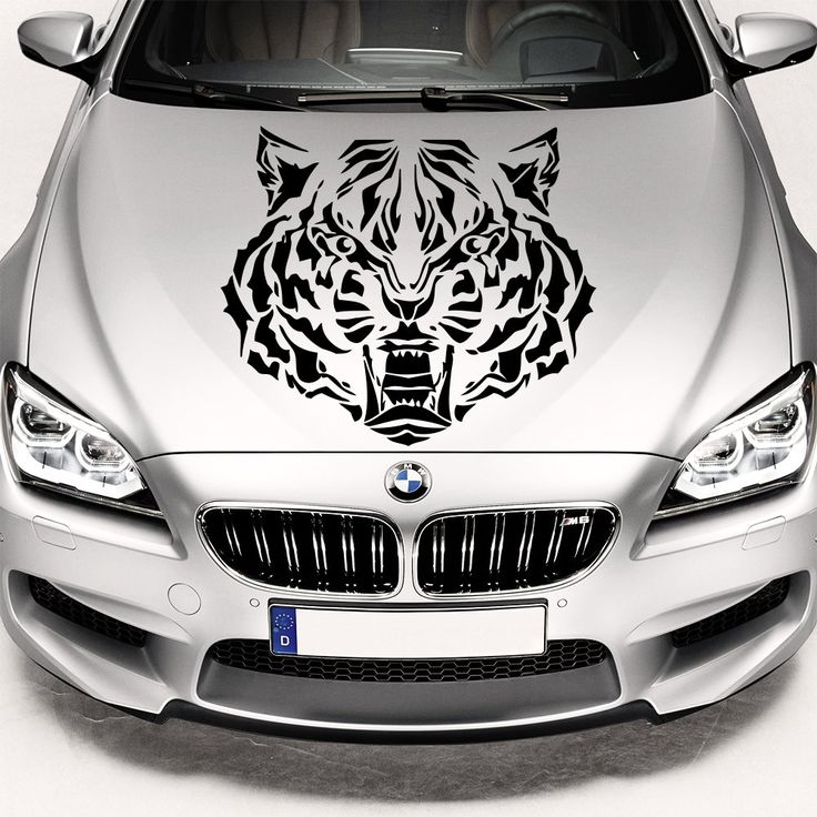 Car Decals Hood Decal Vinyl Sticker Tiger Animal Predator Auto Decor  Graphics OS23