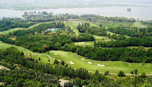Things to Do in Kashmir:Aerial view of Royal Springs Golf Course