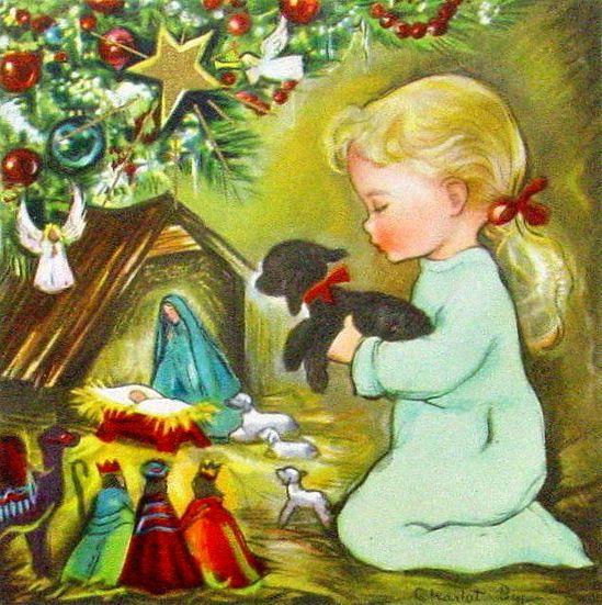 Charlot Byj vintage Christmas card