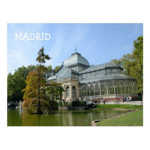 Crystal Palace, Madrid Postcard
