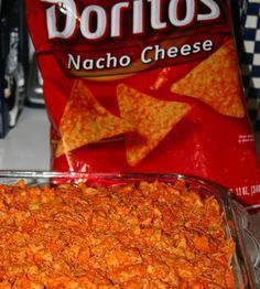 Easy Doritos Taco Bake- tried this tonight. Substituted a jar of salsa for tomato sauce and a can of refried beans for the rolls and added a can of corn. I liked it, Avery did not, but she's never been crazy about casseroles. tlm 4/14/13