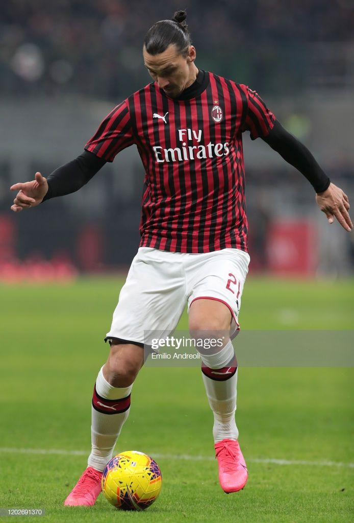 Zlatan Ibrahimovic Of Ac Milan In Action During The Coppa Italia