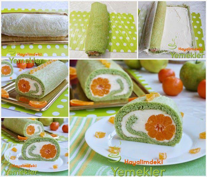 mandalinalı rulo pasta tarifi | Nermin'in tarifleri