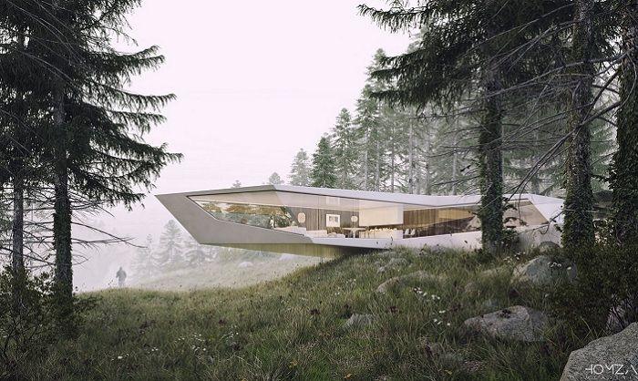 Резиденция, спроектированная словацким архитектором Vladimir Homza.