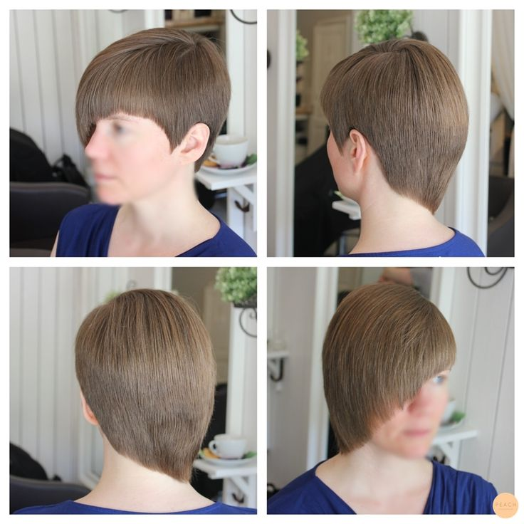 short asymetric hair