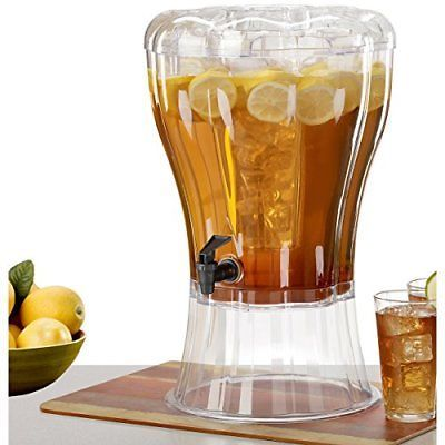 Buddeez Unbreakable 3-1/2-Gallon Beverage Dispenser with Removable Ice-Cone New